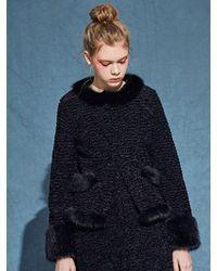 Jin Jin Island - Fluffy Faux Fur Jacket - Lyst