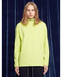 13Month - [unisex] Turtleneck Long Sleeved Tee Lime - Lyst