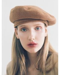Awesome Needs - Classic Beret_wool Camel - Lyst