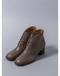 HEENN - Lace-up Ankle Boots In Gray - Lyst
