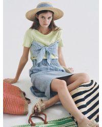 THE ASHLYNN - Selflove Dixie Linen Bow T-shirt_lime Green - Lyst