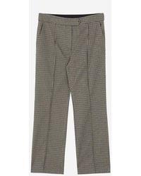 a.t.corner - Brown Poly Blend Check Pants Ampa7d129w2 - Lyst