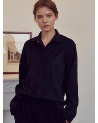 5fd497c46fb961 Lyst - Foxcroft Jena Faux Suede Shirt in Black