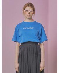 ANOTHER A - Like A Virgin T Shirt (blue) - Lyst