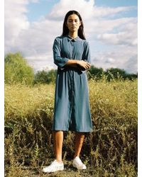 W Concept - Long Shirt Dress_blue - Lyst