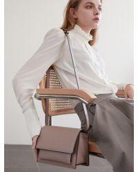 DEMERIEL - Classic Bag Medium Rose Beige - Lyst