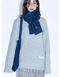 W Concept - [unisex]cable Turtleneck Knit Grey - Lyst