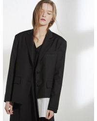 Clue de Clare - Oversized Shirts Detail Jacket Black - Lyst