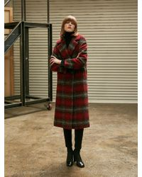 COLLABOTORY - Cotton Padding Cocoon Coat Red - Lyst