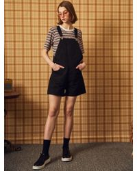W Concept - Ma Short Overall Black - Lyst