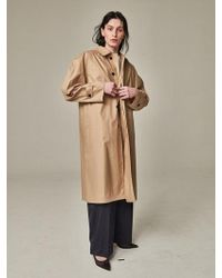 Bouton - Blown Sleeve Trench Coat Beige - Lyst