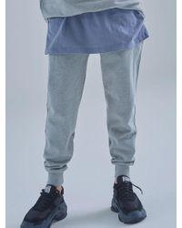 MIGNONNEUF - Mnfs Heavy Weight Logo Pocket Pants Melange Grey - Lyst