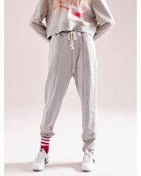 NOHANT - Unbalanced Hem Sweatpants Gray - Lyst