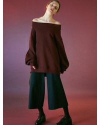 Bouton - Flare Leg Pants-dark Green - Lyst