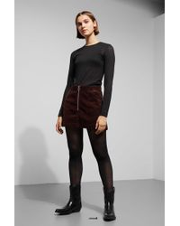 Weekday - Piet Mini Skirt - Lyst