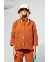 Weekday - Trip Rust Denim Jacket - Lyst