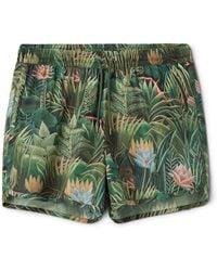 Weekday - Tan Printed Swim Shorts - Lyst