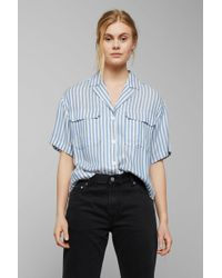 f48a6df3 Madewell Pre-order Oversized Ex-boyfriend Shirt In Windowpane in ...