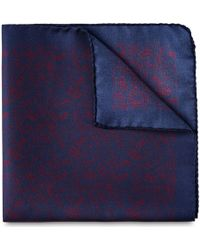Whistles - Leaf Print Silk Pocket Square - Lyst