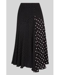 Whistles - Spot Print Asymmetric Skirt - Lyst