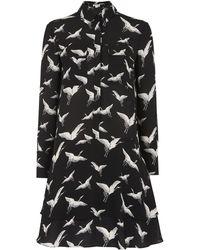 Whistles - Crane Print Shirt Dress - Lyst