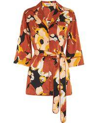 Whistles | Sylvia Floral Silk Shirt | Lyst