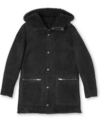 Whistles - Shearling Modern Duffle Coat - Lyst