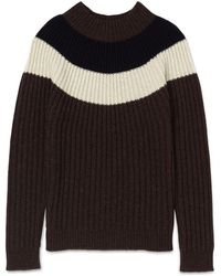 Whistles - Striped Fairisle Sweater - Lyst