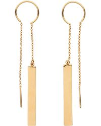 Whistles - Rectangle Chain Drop Earring - Lyst