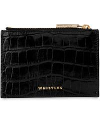 Whistles - Shiny Croc Coin Purse - Lyst