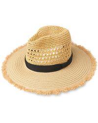 Whistles - Frayed Edge Crochet Hat - Lyst