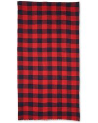 Whistles - Square Check Scarf - Lyst