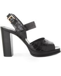Whistles - Laxo Croc Platform Sandal - Lyst