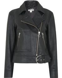 Whistles - Ring Puller Leather Jacket - Lyst