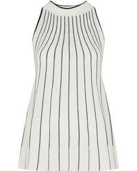 Whistles - Stripe Trapeze Knit Vest - Lyst