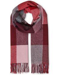 Whistles - Modern Check Blanket Scarf - Lyst