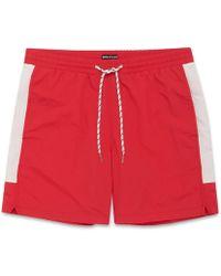 Whistles - Stripe Detail Swim Shorts - Lyst