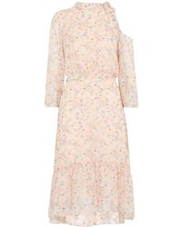 Whistles - Lips Print Tie Neck Dress - Lyst