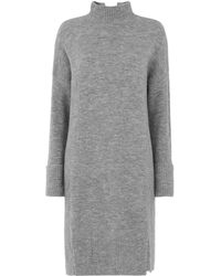 Whistles - Funnel Neck Casual Knit Dress - Lyst