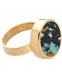 Whistles - Marbled Stone Circle Ring - Lyst