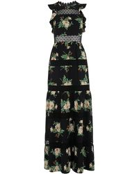 Whistles - Brianna Lace Insert Maxi Dress - Lyst