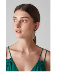 Whistles - Large Wire Drop Earring - Lyst