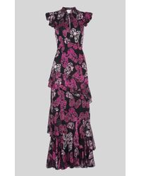 Whistles - Butterfly Devore Maxi Dress - Lyst