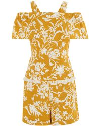 e005aa813d Hot Whistles - Cornfield Print Playsuit - Lyst