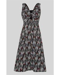 Whistles - Carrie Print Tie Detail Dress - Lyst