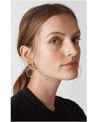 Whistles - Large Circle Link Drop Earring - Lyst