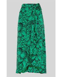 Whistles - Sunflower Longline Wrap Skirt - Lyst