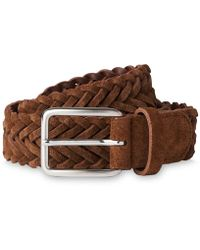 Whistles - Suede Woven Belt - Lyst