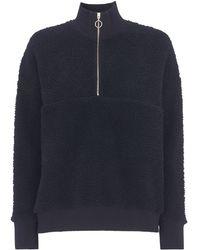 Whistles - Zip Neck Fleece Sweatshirt - Lyst