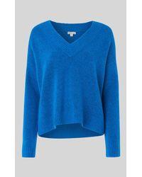 Whistles Oversized V Neck Knit - Azul